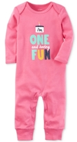 Carter's 1-Pc. I'm One And Having Fun Birthday Coverall, Baby Girls (0-24 months)