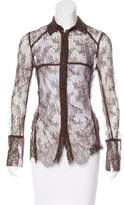 Christian Lacroix Lace Button-Up Top