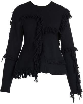 Stella McCartney Fringe Trim Virgin Wool Sweater