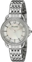 Bulova Women's 96R146 Diamond Mother of Pearl Watch