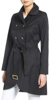 CeCe Petite Women's Angelina Tulip Hem Trench Coat