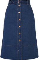 Rag & Bone Branson Belted Denim Skirt - Indigo