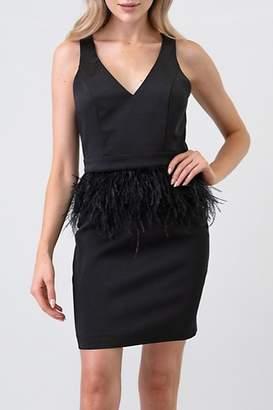 Minuet Ostrich Feather Waist Dress