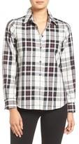 Foxcroft Petite Women's Tartan Wrinkle Free Shirt