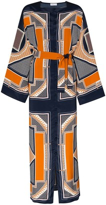 Rosetta Getty Geometric-Print Maxi Dress