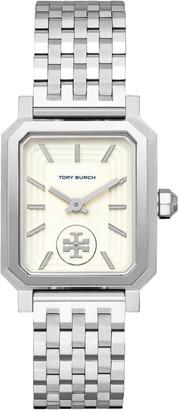 Tory Burch Robinson Watch, Steel/Ivory, 27 X 29 MM