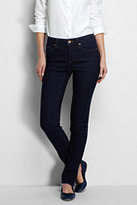 Classic Women's Mid Rise Slim Jeans-Black
