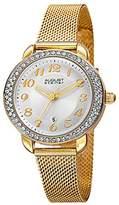 August Steiner Women's AS8192YG Sunburst Effect Gold Ion-Plated Watch