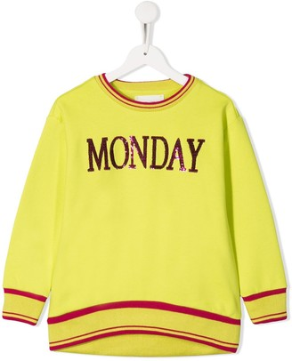 Alberta Ferretti Kids Monday sequin detail sweatshirt