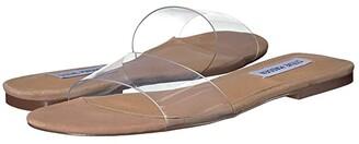 Steve Madden Bev Flat Sandal (Clear) Women's Shoes