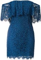 Rachel Zoe textured frill bardot dress - women - Cotton/Nylon/Rayon/Polycarbonite - 0