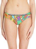Trina Turk Women's Montezuma Shirred Side Hipster Bikini Bottom