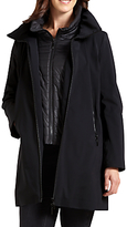 Four Seasons Three-Quarter Jacket With Gilet Inner, Black
