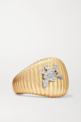 Yvonne Léon 18-karat Yellow And White Gold Diamond Ring