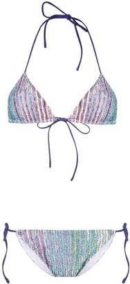 Missoni Knitted Triangle Bikini