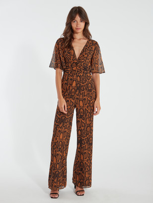 Finders Keepers Lana Front Twist Wide Leg Pantsuit