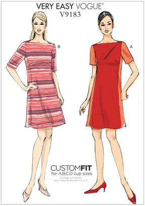 Vogue Misses' Women's Paneled Dress Sewing Pattern, 9183
