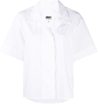 MM6 MAISON MARGIELA Logo-Embroidered Shirt