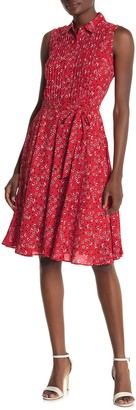 Nanette Lepore Sleeveless Pintuck Shirt Dress