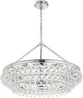Crystorama Calypso 6-Light Chandelier, Chrome