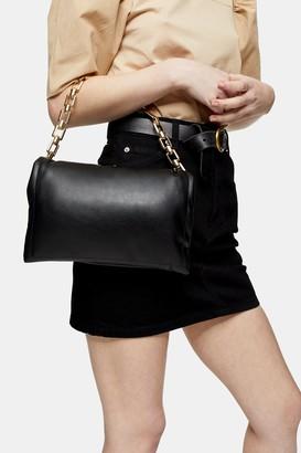 Topshop Black Chain Clutch Bag