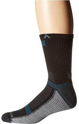 Wigwam Ultra Cool-Lite Mid-Crew (Black II) Crew Cut Socks Shoes