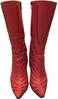 Cesare Paciotti Red Leather Boots