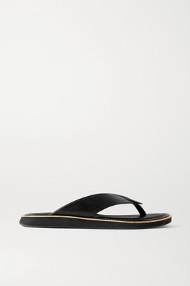 Rag & Bone Parker Leather Platform Flip Flops - Black