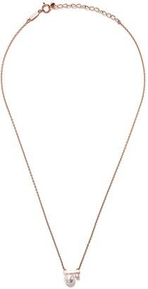 TASAKI 18kt rose gold petit Balance Class Akoya pearl and diamond pendant necklace