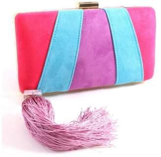 Madison Avenue Accessories Purple Neon Clutch