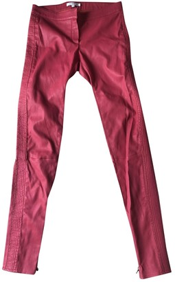 Faith Connexion Pink Leather Trousers for Women