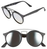 Ray-Ban Women's 49Mm Gatsby Round Sunglasses - Blue/ Black