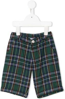 Mariella Ferrari Plaid Straight Shorts