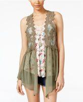 Belle Du Jour Juniors' Vest, Tank Top & Necklace Set