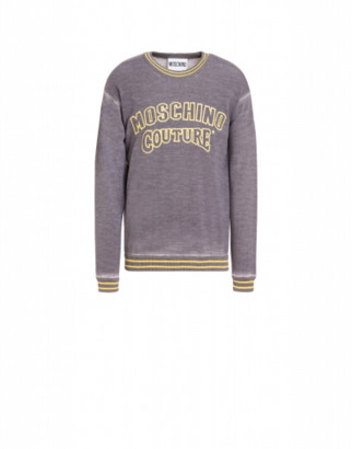 Moschino Couture Wool Pullover Man Grey Size 44 It - (34 Us)