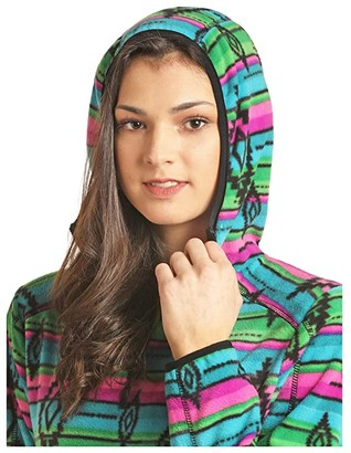 Rock and Roll Cowgirl 1/4 Zip Pullover Fleece 51-2733 (Hot Pink) Women's Clothing
