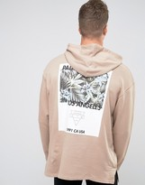 Asos Oversized Longline Hoodie With Back Print