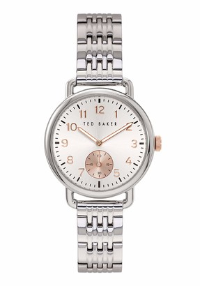 Ted Baker Hannahh 34 mm Women's Silver-Tone Stainless Steel Watch BKPHHF901