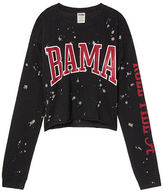 PINK University Of Alabama Cropped Long Sleeve Campus Tee