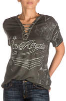 Guess Lace-Up Rocker Graphic Tee