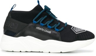 Roberto Cavalli Mesh Panelled Logo Sneakers