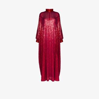 Ashish High Neck Sequin Kaftan Gown