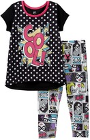 Petit Lem Cool! Comic Pajama - 2-Piece Set (Little Girls & Big Girls)