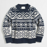J.Crew Factory Boys' geometric Fair Isle crewneck sweater