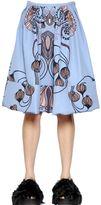 Antonio Marras Printed Jersey & Jacquard Bubble Skirt