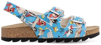 Moa Master Of Arts Looney Tunes Print Faux Leather Sandals