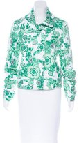 Burberry Collared Floral Print Jacket