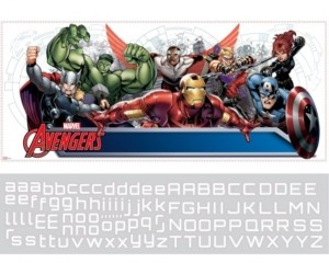 York Wall Coverings York Wallcoverings Avengers Assemble Personalization Headboard Peel and Stick Wall Decals