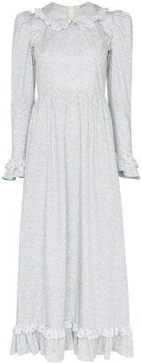 Batsheva floral print collared dress