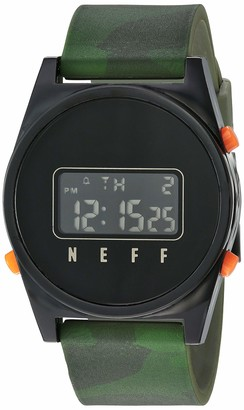 Neff Men's Daily Digital Athletic Watch with Silicone Band Unisex